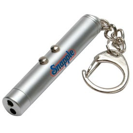 Logo Laser Pointer And Led Light Keychain