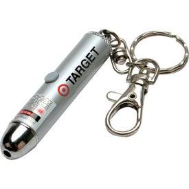 Logo Laser Pointer Keychain