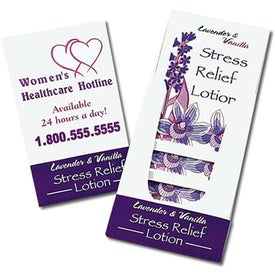 Lavender and Vanilla Stress Relief Lotion Pocket Pack Printed with Your Logo
