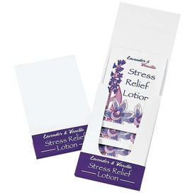 Advertising Lavender and Vanilla Stress Relief Lotion Pocket Pack