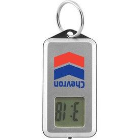 Advertising LCD Digital Clock And LED Light Keyholder