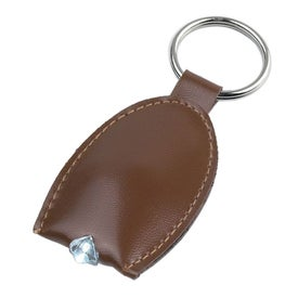 Leather Look LED Key Tag Imprinted with Your Logo