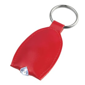 Leather Look LED Key Tag for Your Organization