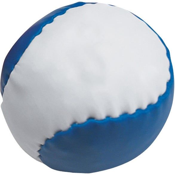 White / Blue Leatherette Ball