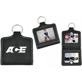 Leatherette Photo Keyring for Customization