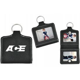 Leatherette Photo Keyring for Customization