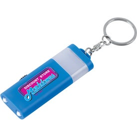 Imprinted LED Camping Light And Key Ring