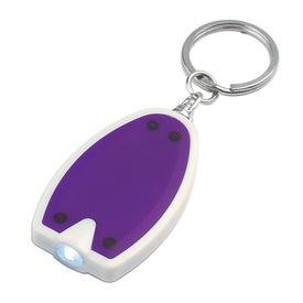 Plastic LED Key Chain for Advertising