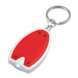 Plastic LED Key Chain for Your Company