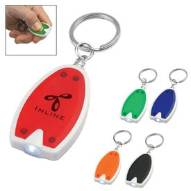 Plastic LED Key Chain