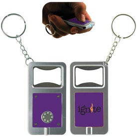 LED Keytag w/Bottle Opener Imprinted with Your Logo