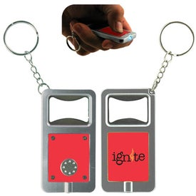 LED Keytag w/Bottle Opener with Your Slogan