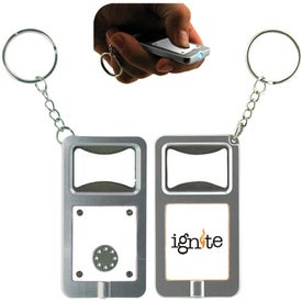 LED Keytag w/Bottle Opener Imprinted with Your Logo