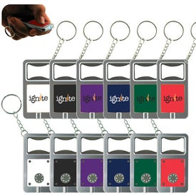 LED Keytag w/Bottle Opener Giveaways
