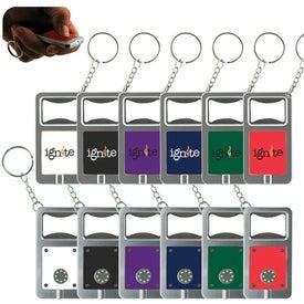 LED Keytag w/Bottle Opener Giveaways