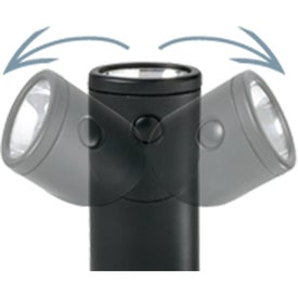 LED Rotating Flashlight Printed with Your Logo