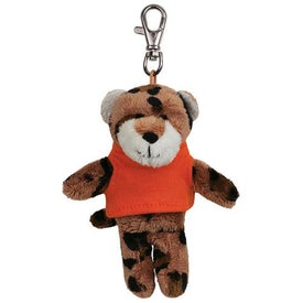 Leopard Plush Key Chain