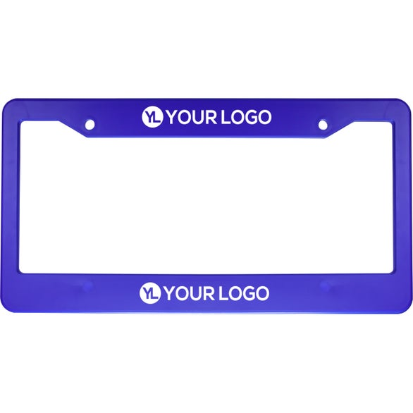 Royal Blue Auto License Plate Frame