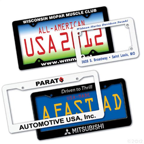 Black Durable License Plate Frame
