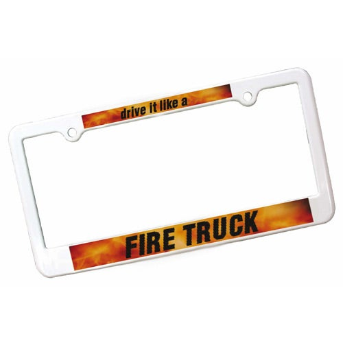 White License Plate Frame