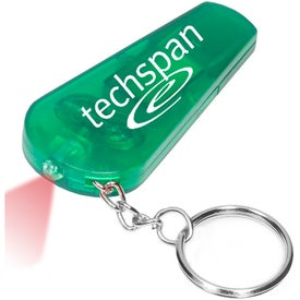 Personalized Light and Whistle Key Tag