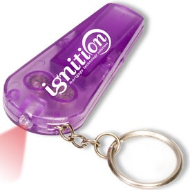 Light and Whistle Key Tag Branded with Your Logo