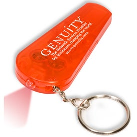 Customized Light and Whistle Key Tag