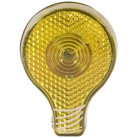Monogrammed Light Bulb Blinking Light