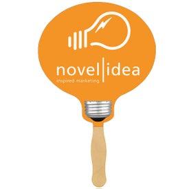 Light Bulb Sandwiched Hand Fan (Two Sided)