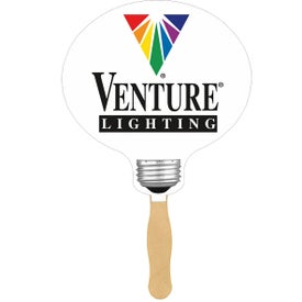 Light Bulb Sandwiched Hand Fan Branded with Your Logo