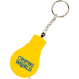 Company Light Bulb Tape Measure Key Tag