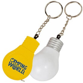 Light Bulb Tape Measure Key Tag