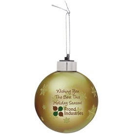 Light-Up Glass Ornament Giveaways