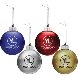 Advertising Light-Up Glass Ornament