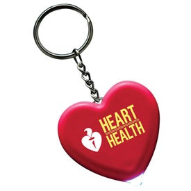 Light Up Heart Keytag Imprinted with Your Logo