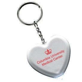 Company Light Up Heart Keytag