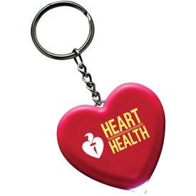 Promotional Light Up Heart Keytag
