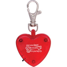 Light Up Heart Strobe Clip
