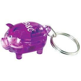 Custom Light Up Piggy Keytag