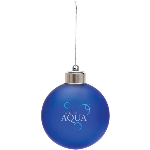 Frosted Blue Light-Up Shatter Resistant Ornament