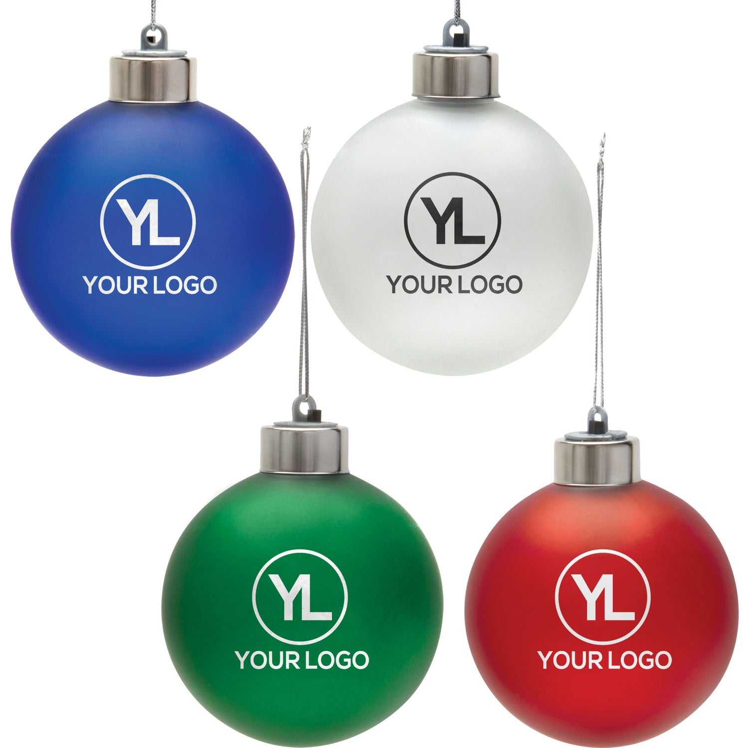 group photo light up shatter resistant ornament imprinted