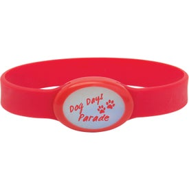 Imprinted Light Up Silicone Bracelet