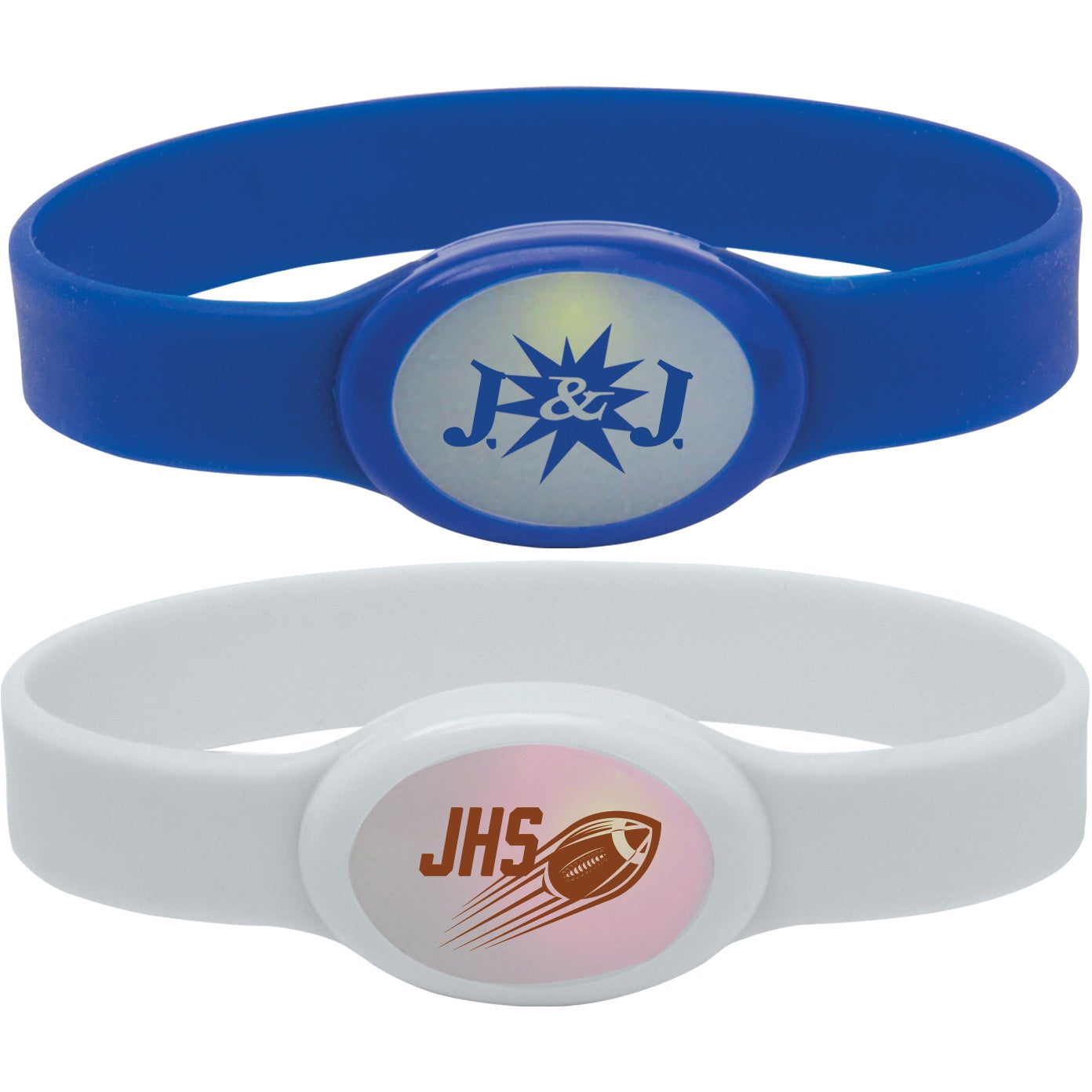 Light Up Silicone Bracelet With Your Slogan