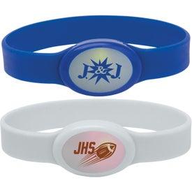 Monogrammed Light Up Silicone Bracelet