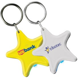 Advertising Light Up Star Keytag
