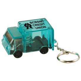 Company Light Up Truck Keytag