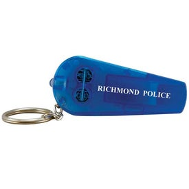Light Up Whistle Keytag with Your Logo