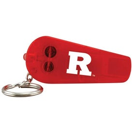 Customized Light Up Whistle Keytag