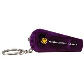 Custom Light Up Whistle Keytag
