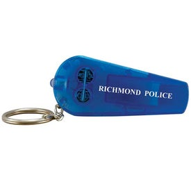 Custom Light Up Whistle Keytag